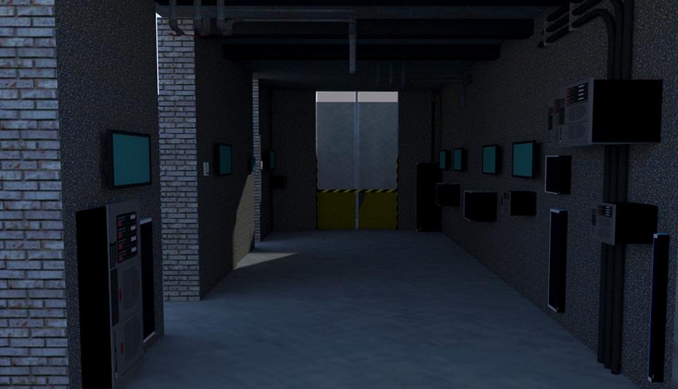 Hallway_SketchUp