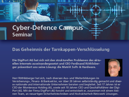 matriX goes to Cyber-Defence Campus: