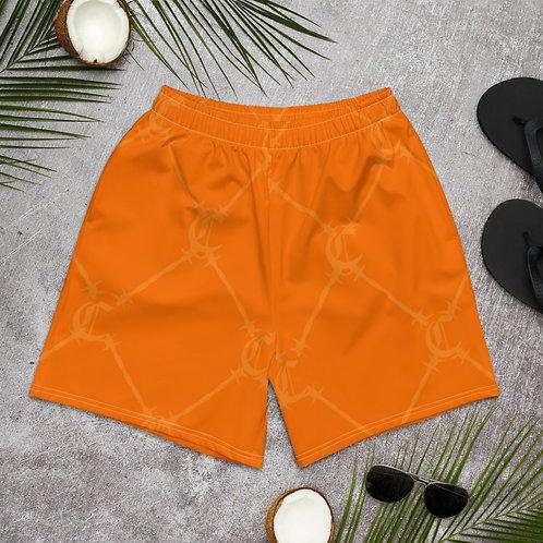 Orange Chaleur Print Shorts