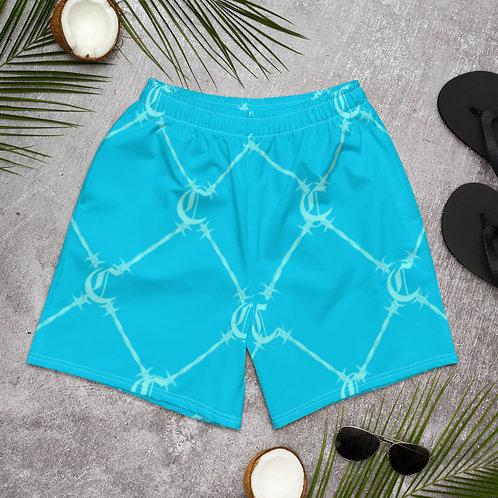 Powder Blue Chaleur Print Shorts
