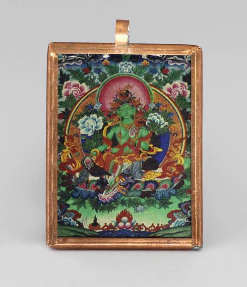 Pendant green tara deity pendants and home decor dezigndivine mozeypictures Gallery