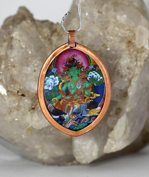 Oval pendant green tara rich colors deity pendants and home oval pendant green tara rich colors deity pendants and home decor dezigndivine mozeypictures Gallery