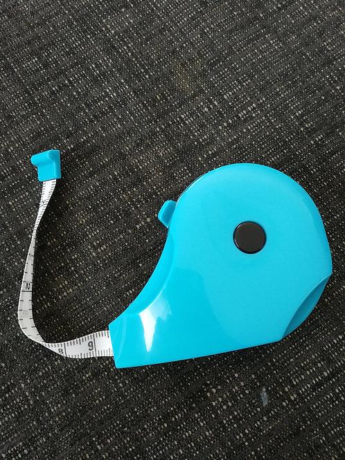 Maßband zum Ausziehen türkis/blau 150 cm