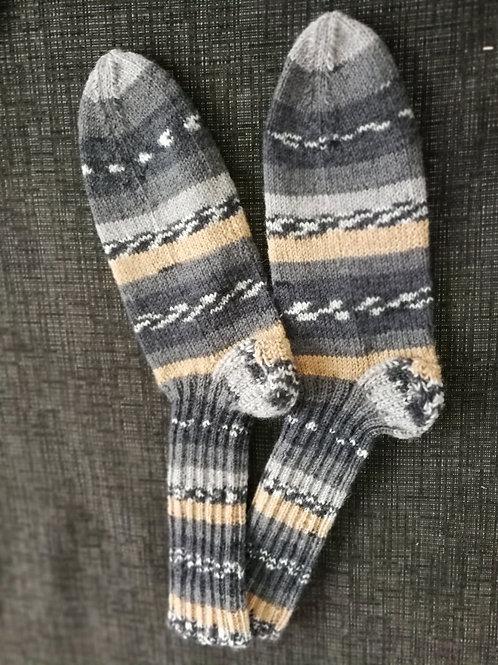 Socken lachs-natur-grau