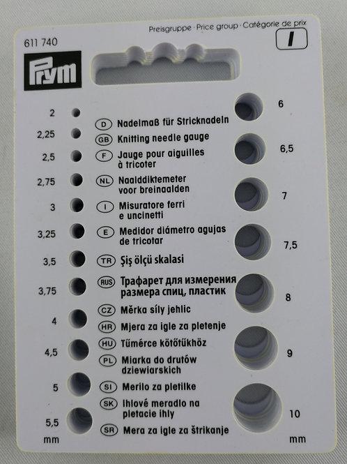 Nadelmaß für Stricknadeln / Prym