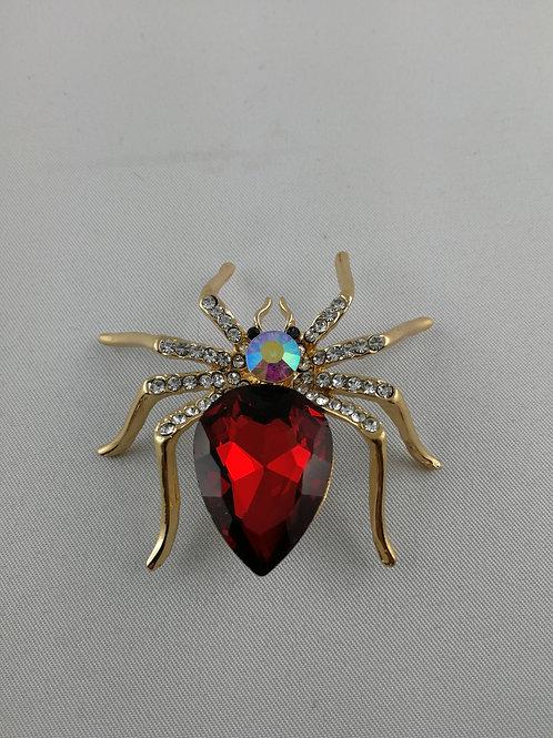 Kopie von Tuchnadel Spinne rot