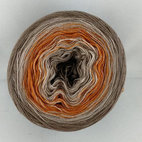 Pfeilraupenwicklung schlamm - orange