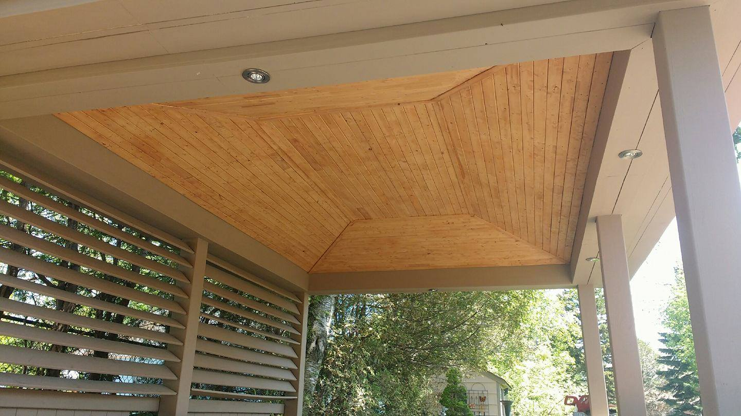 pergola finsihed strapping