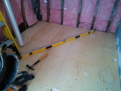 leveled sub floor