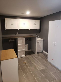 finished laundry room