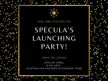 You are invited to Specula's launching party!