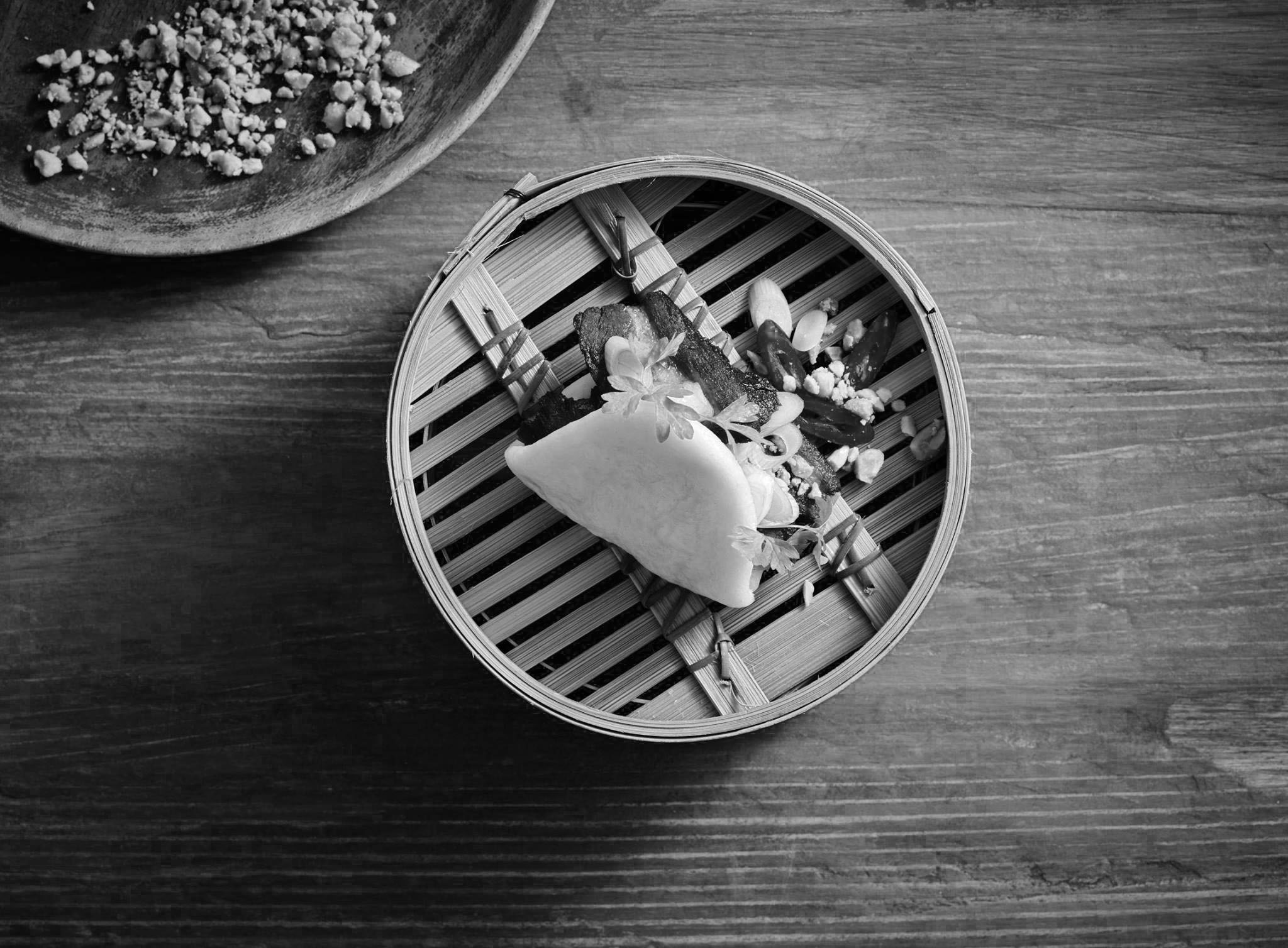 Bao food bw