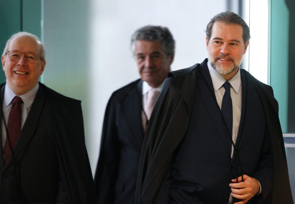 Celso de Mello, Marco Arelio Mello e Dias Toffoli, ministros do STF