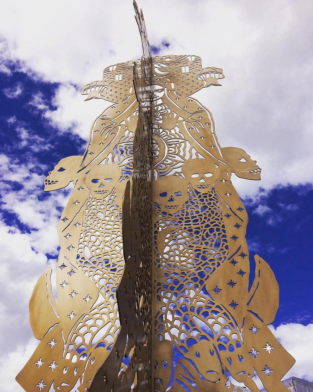 La escultura Sincretismo, de Ismael Vargas, en Guadalajara