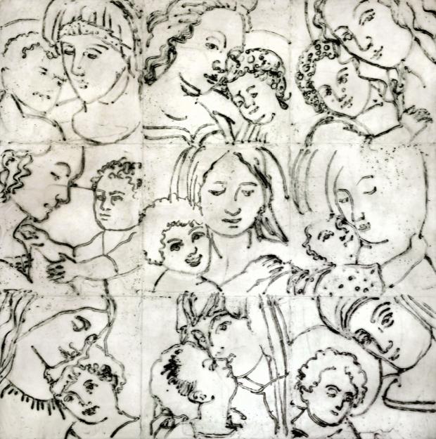 'Rosa con Jarrito', Francisco Zuñiga, de 1980
