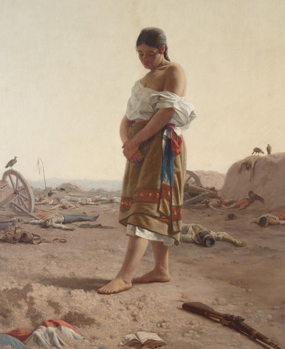 'La Paraguaya', del uruguayo Juan Manuel Blanes, 1879; Museo Nacional de Artes Visuales de Uruguay