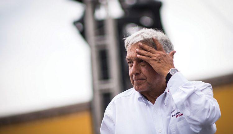López Obrador en la campaña electoral de 2018