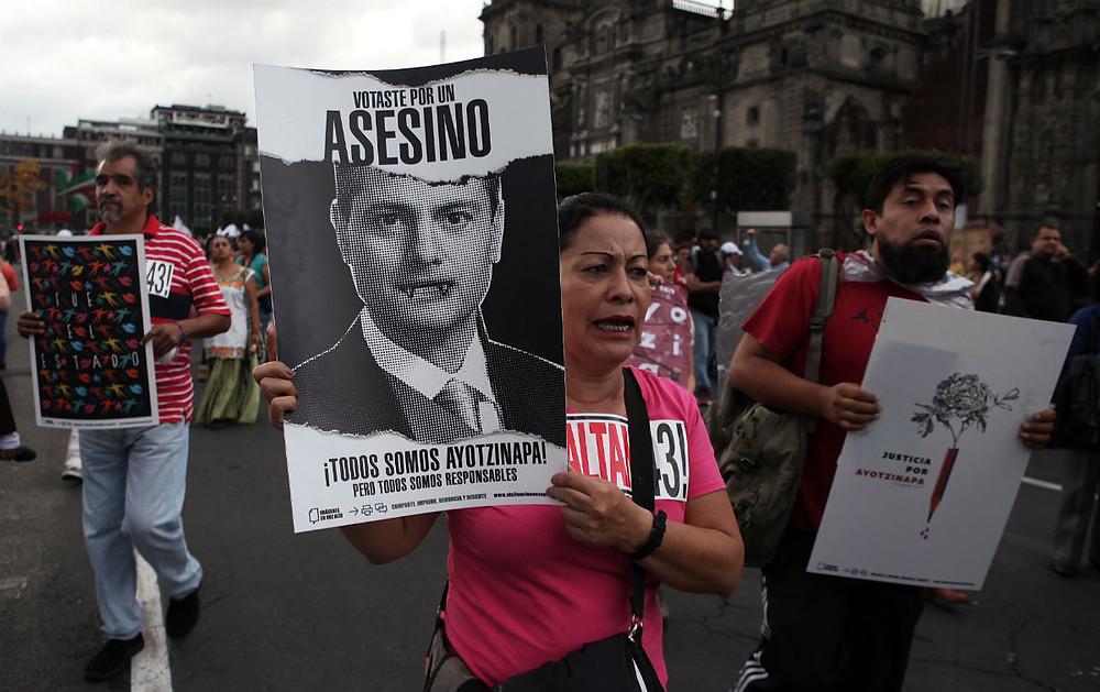 Una marcha por los 43 de Ayotzinapa