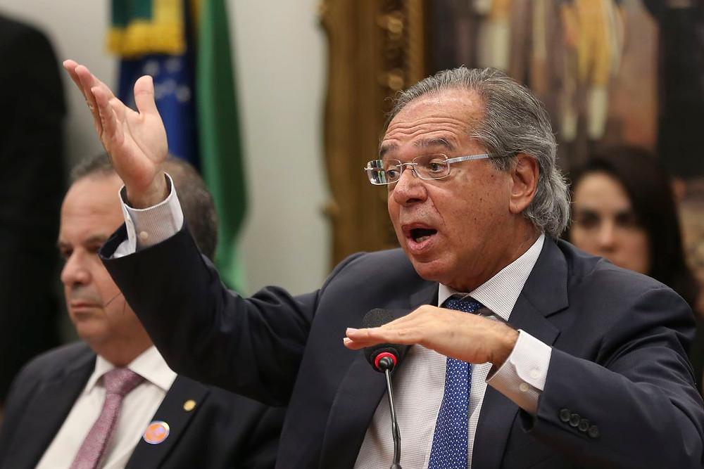 O ministro de Economia Paulo Guedes