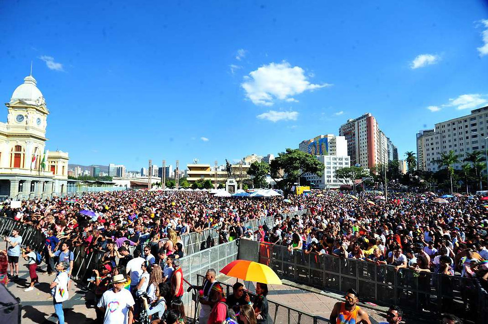 Panoráma da 22 Parada LGBT de Belo Horizonte