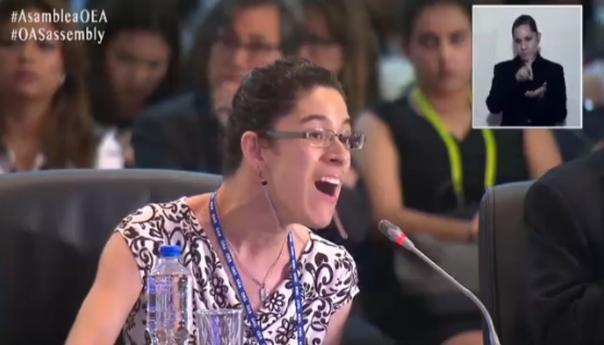 Andrea, la voz de la vida en la OEA