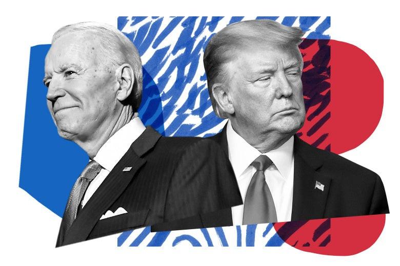 Joe Biden y Donald Trump, candidatos democrata y republicano a la Presidencia de EUA