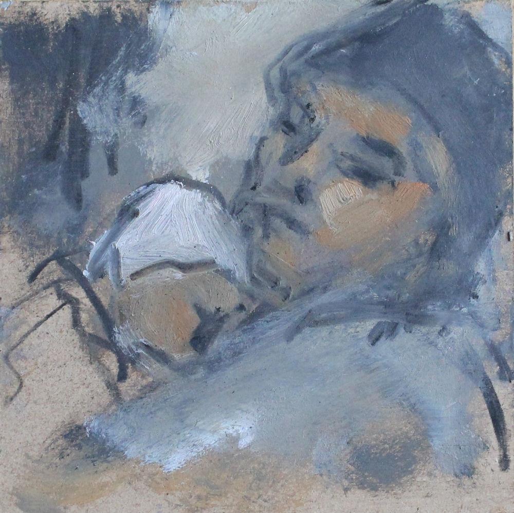 'Mujer abrazando bebé', Ghislaine Howard, 2005
