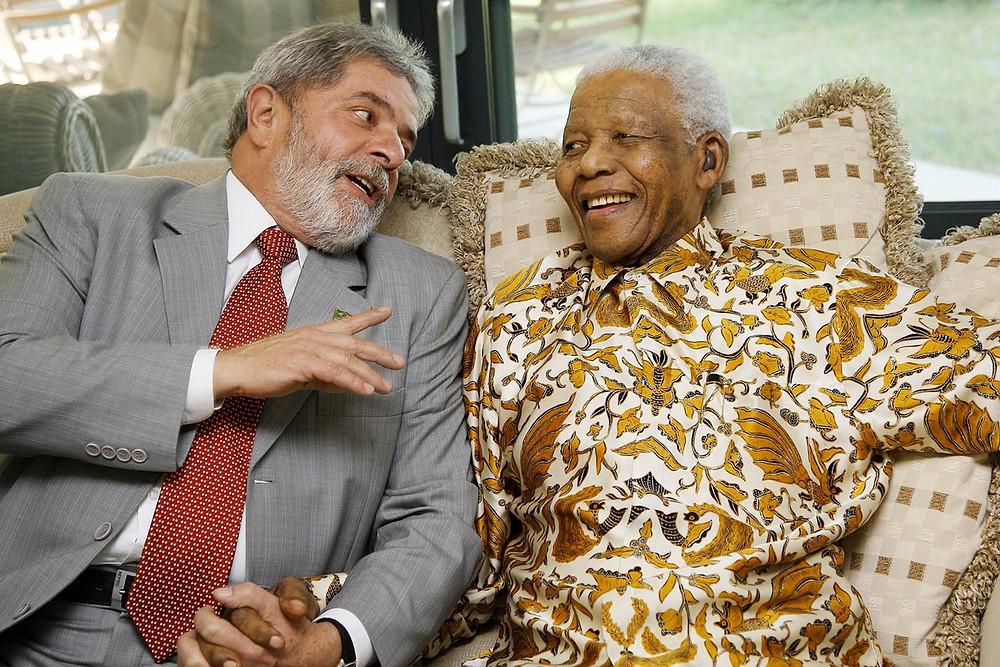 Lula se encontra com Mandela em 2008