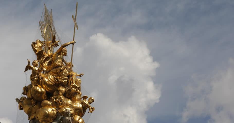 'Santíssima trindade', detalhe do monumento 'Pestsäule', em Graben, Viena