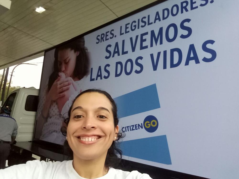 la directora de campañas de CitizenGo en Argentina, Silvina Spataro.