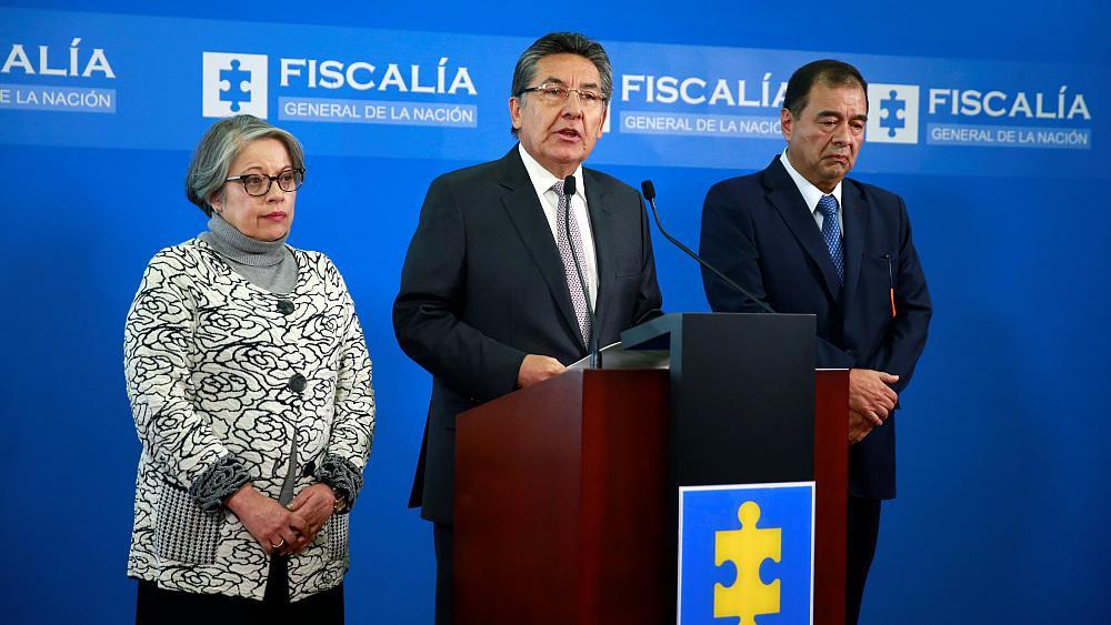 El fiscal general de Colombia, Néstor Humberto Martínez, anuncia su renuncia el 15 de mayo 2019