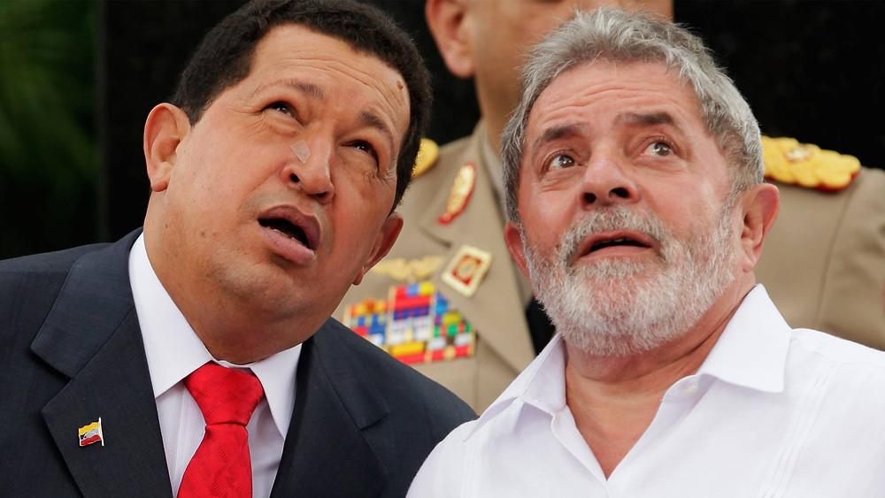 Hugo Chávez y Lula, presidentes de Venezuela y Brasil, respectivamente