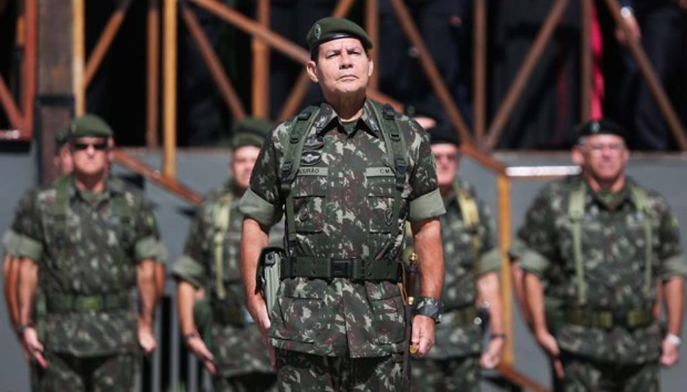 General Hamilton Mourão, vicepresidente de Brasil