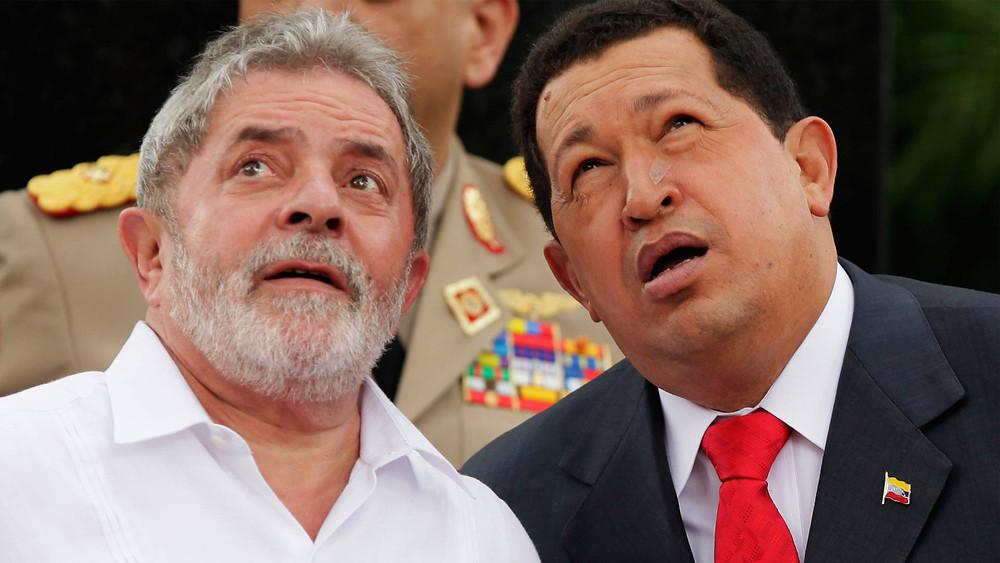Lula y Chávez en Venezuela