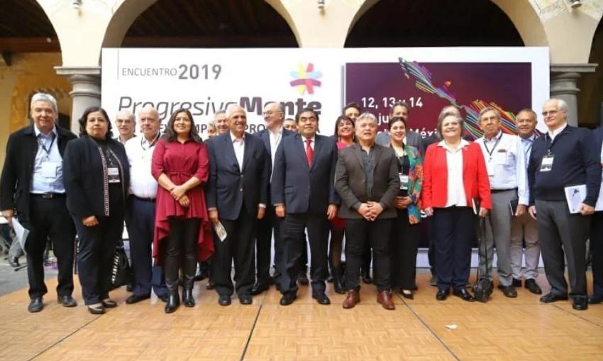 Os membros do Grupo de Puebla