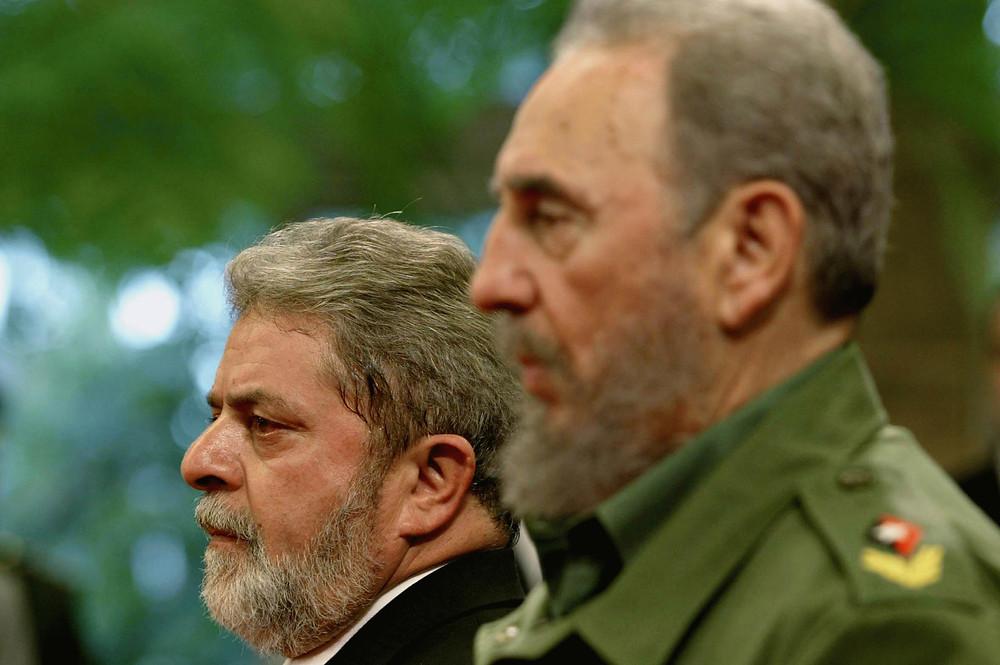 Lula e Fidel, pais do FSP