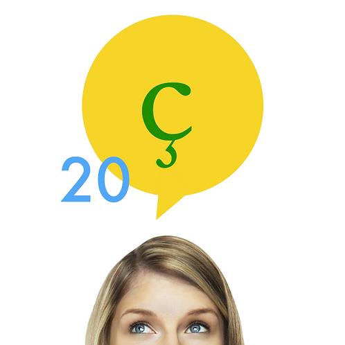 20 reais por mês (x6) para fazer D'Vox em português