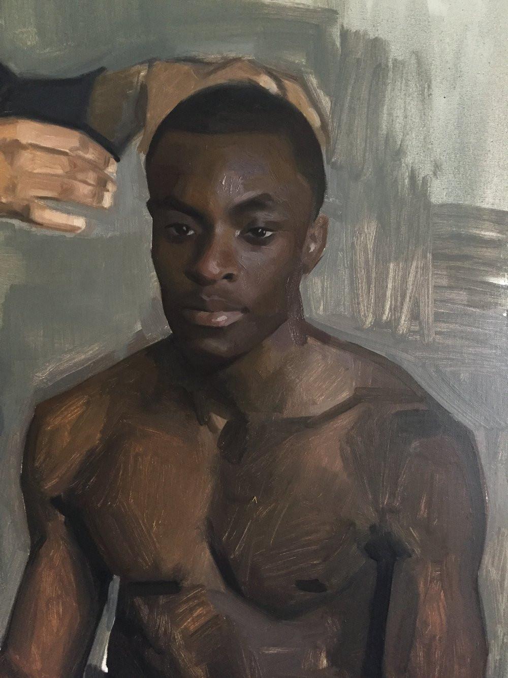 Fragmento de um estudio do pintor Jas Knight