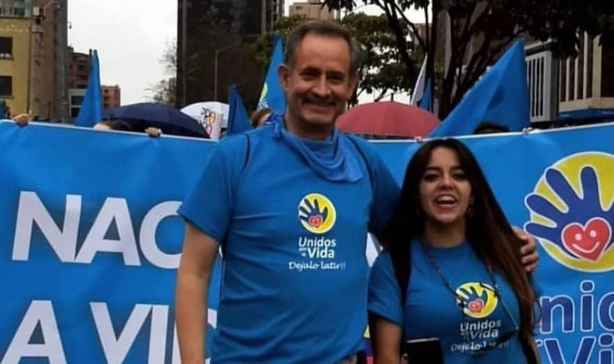 Jesus Magaña en la Marcha por la Vida de Colombia, 2019