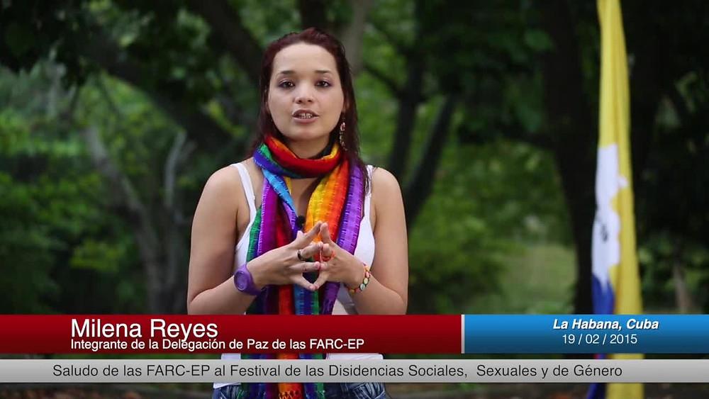 Milena Reyes, militante de las Farc