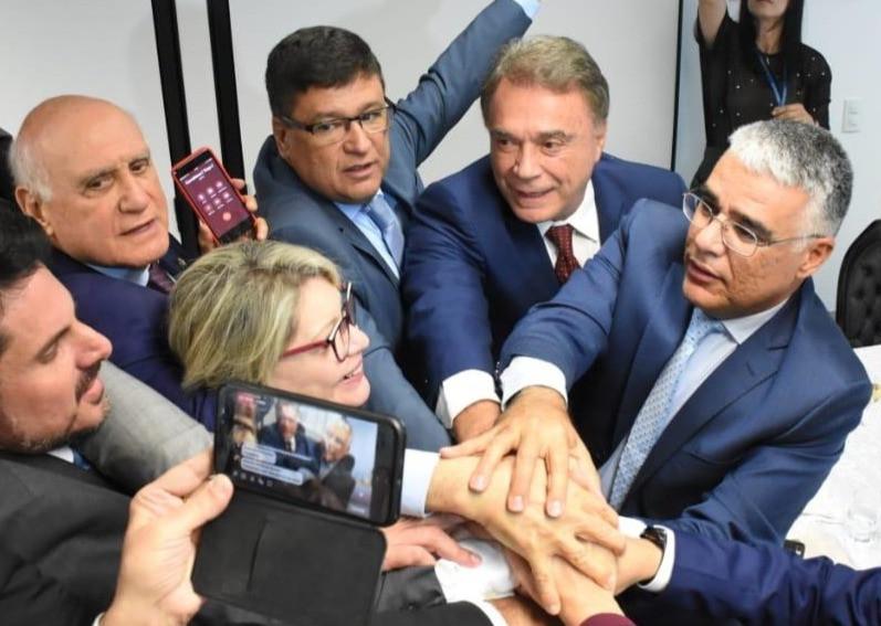 Líderes do Grupo Muda Senado