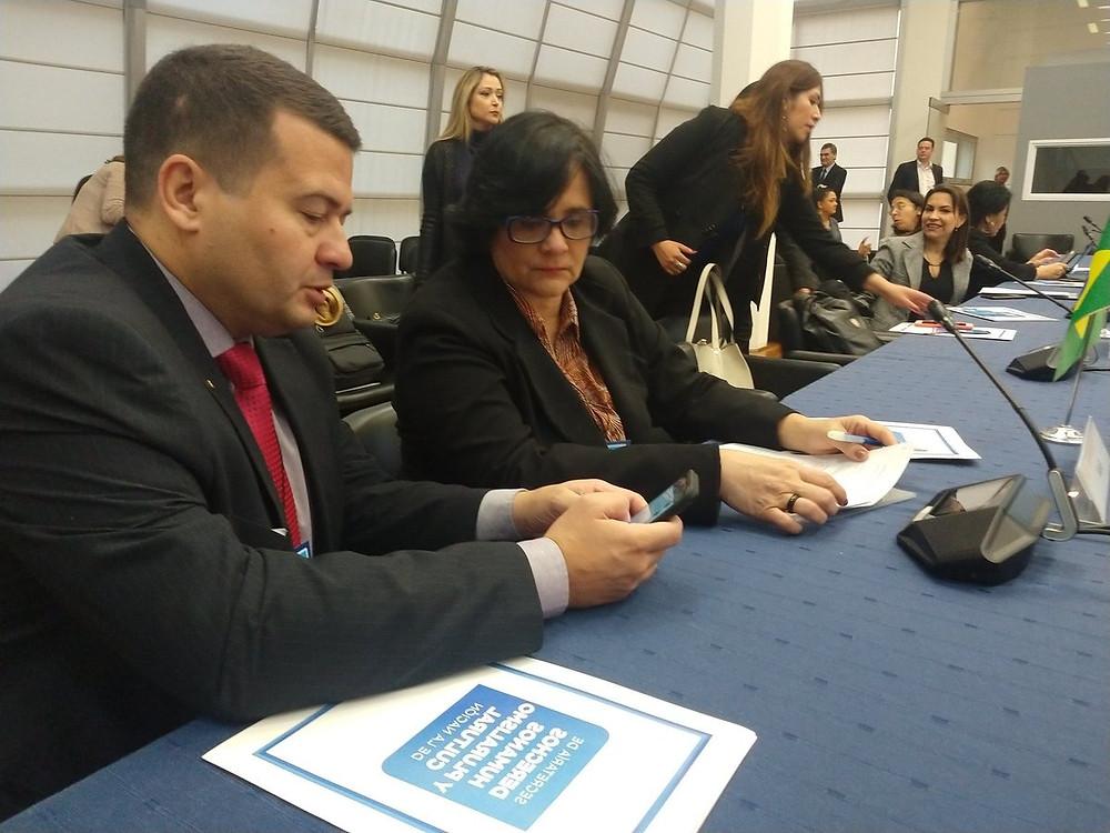 A ministra Damares Alves na RAADH do Mercosur na Argentina no 30 de maio