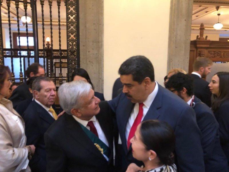 Lopez Obrador y Maduro en la investidura como presidente del mexicano, el 1º diciembre de 2018