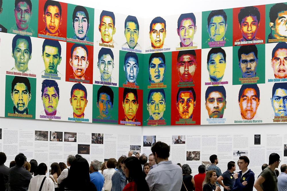 Los 43 de Ayotzinapa, exposición en la Ciudad de México