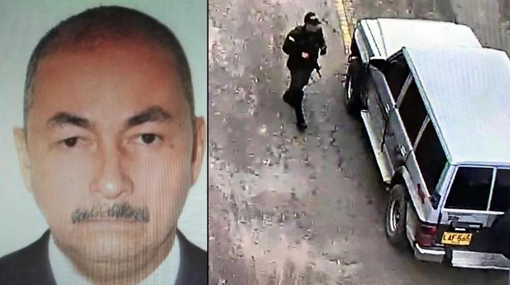 José Aldemar Rojas Rodríguez y el vehículo que presuntamente él dirigía, al momento de llegar en la escuela de cadetes