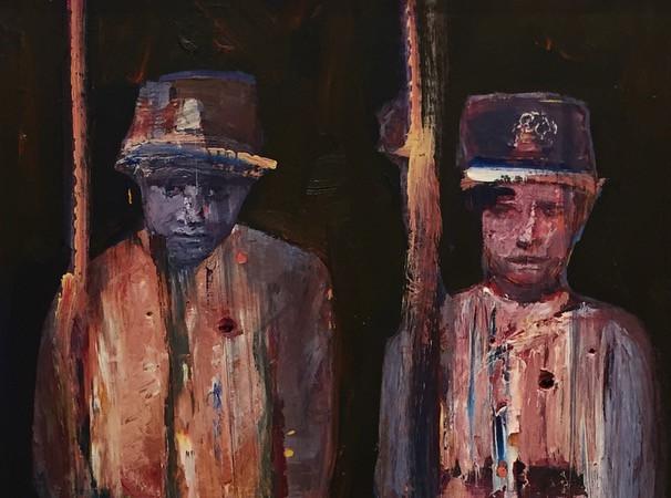 Homenaje a los Niños Soldados en la Batalla de Acosta Ñu, del pintor Lucero Villalba