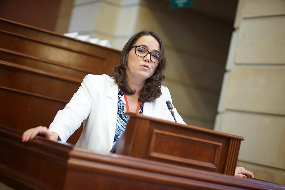 La ministra Katalin Nóvak en la III Cumbre Transatlántica realizada em Bogotá