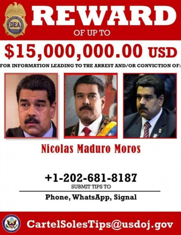 Trump pone precio a la 'cabeza' de Maduro