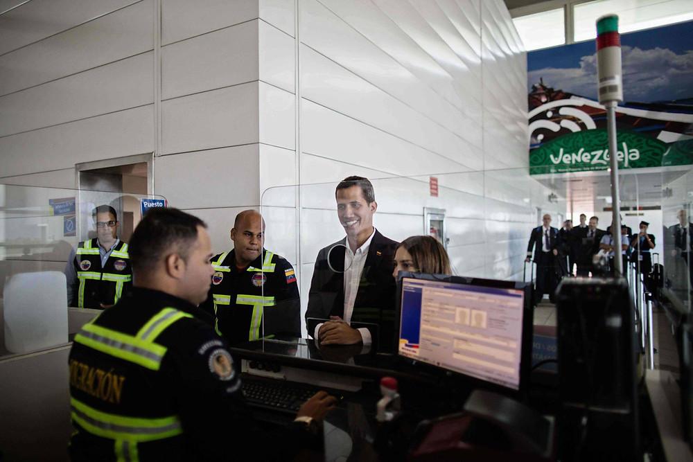 Juan Guaidó ingresa en Venezuela, 4 de marzo de 2019