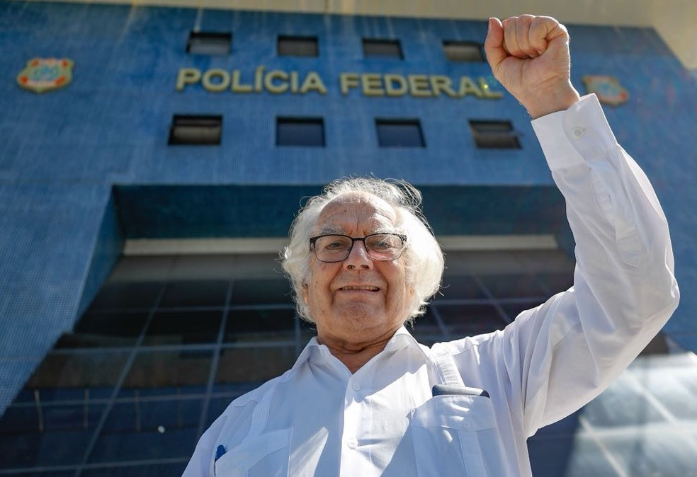 El Nobel, Adolfo Pérez Esquivel en la cárcel donde Lula esta preso en Curitiba